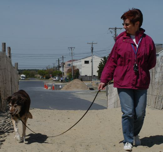 Linda and Hershey at Dewey Beach